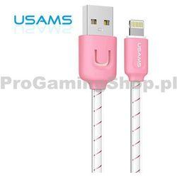 Danych i kabel do ładowania USAMS dla Apple iPhone i iPad ze złączem Błyskawica, Pink