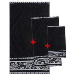 Korzystny komplet ręczników Fiora czarny