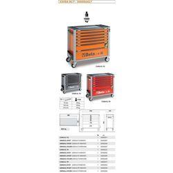 WÓZEK NARZĘDZIOWY 2400/C24SL Z ZESTAWEM NARZĘDZI, 153 ELEMENTY, MODEL 2400SAXL7-R/VG5T, CZERWONY