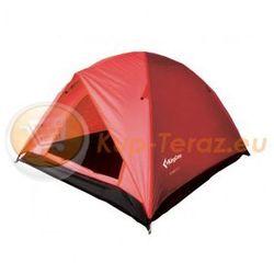 Namiot turystyczny 3 osobowy lekki z tropikiem King Camp FAMILY 3 czerwony
