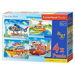 4x1 Puzzle 8-12-15-20 Travel the World - Castor