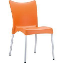 Ekonomiczne krzesło z tworzywa do restauracji Juliette Siesta pomarańczowe