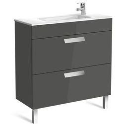 Zestaw łazienkowy Unik Compacto 80cm z 2 szufladami Roca Debba A855907154 Wenge tekstura