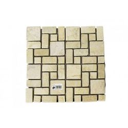 Mozaika kamienna marmurowa Divero 30 x 30 cm kremowa