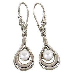 Wiszące kolczyki srebrne z perełkami O54