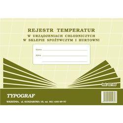 Rejestr temperatur w urządzeniach chłodniczych w sklepie spożywczym i hurtowni A4