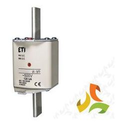 Wkładka topikowa zwłoczna gg WT-3C 355A, KOMBI bezpiecznik przemysłowy ETI