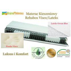 MATERAC KIESZENIOWY HEVEA REHABOX VISCO LATEKS 200x140