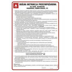 Ogólna instrukcja przeciwpożarowa dla szkół, internatów, przedszkoli, domów dziecka itp.