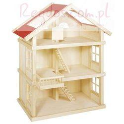 Duży trzypiętrowy domek dla lalek