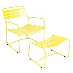 Komplet wypoczynkowy fotel z podnóżkiem Surprising Fermob żółty