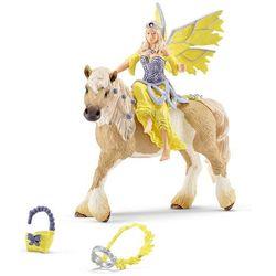 Schleich Elf Sera w odświętnym stroju na koniu