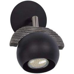 Kinkiet LAMPA ścienna SIG32552 drewniana OPRAWA sufitowa kula ball czarna
