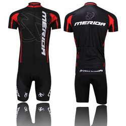 Hot Sale Cool Men's Red Merida Bicycle Bike Jersey Cycling Short Sleeve Clothing Cycling Wear Short Jersey Top S-XXXL