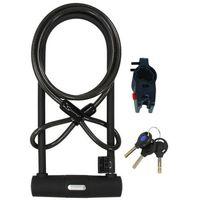 Serfas U-Lock with Cable UL-290 - zapięcie rowerowe U-Lock z kluczem