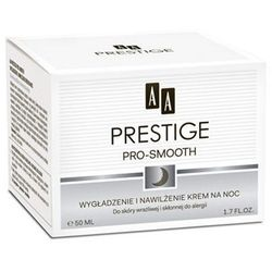 AA Prestige Pro - Smooth Wygładzający i nawilżający krem na noc do skóry wrażliwej i skłonnej do alergii 50 ml