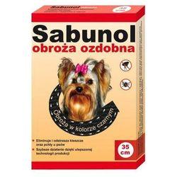 DR SEIDEL Sabunol - ozdobna obroża przeciw pchłom i kleszczom dla Yorka czarna 35cm