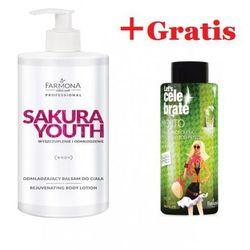Farmona SAKURA YOUTH Odmładzający balsam do ciała, 500 ml+Gratis Let`s Celebrate Opalizujący olejek do kąpieli i pod prysznic mięta & limonka, 500 ml