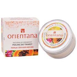 Orientana, naturalny kremowy peeling do twarzy, żeń-szeń i papaja, 50 g