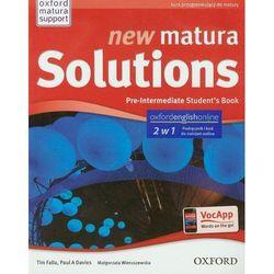 New Matura Solutions Pre-Intermediate Podręcznik + Ebook (opr. broszurowa)