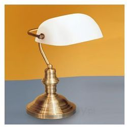 Stołowa lampa bankierska Onella mleczne szkło