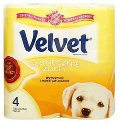 VELVET 4szt Słonecznie Żółty Papier toaletowy