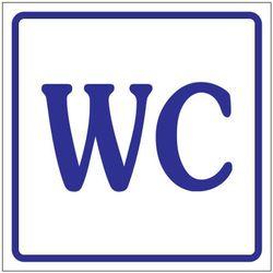 Oznaczenie toalet foliowe samoprzylepne - WC