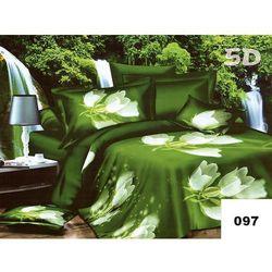 Komplet Pościeli 200x220 Pościel Kwiaty 3D 6cz 097 - 097