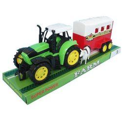 Zabawka SWEDE Traktor Z Przyczepą Do Przewozu Zwierząt