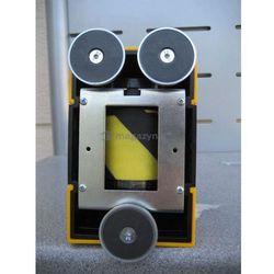Taśma ostrzegawcza rozwijana w kasecie mocowanej na magnes. MIDI. Zapięcie magnetyczne (Długość 3,5m)