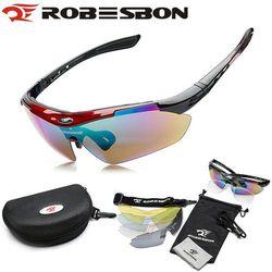 ROBESBON Unisex Outdoor Sports Cycling Riding Bicycle Bike MTB Road UV400 5 lens Sun Glasses Eyewear Goggle Free Shipping