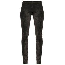 Oakwood Spodnie skórzane anthracite