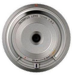 Obiektyw OLYMPUS Body Cap Lens 15mm 1:8.0 Srebrny BCL-1580