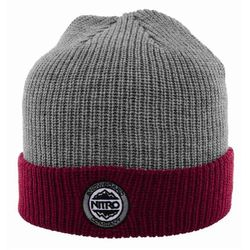 czapka zimowa NITRO - Cuffed Hat Heather Grey Red (002) rozmiar  OS 0cda3e162afd