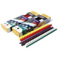 Grzbiety do bindowania plastikowe, zielone, 32 mm, 50 sztuk, oprawa do 300 kartek