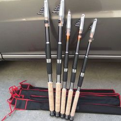 SeaKnight Top Quality Carbon Telescopic Fishing Rods Spinning Apache Navigators 2.1M/2.7m GW Fishing Pole