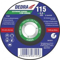 Tarcza szlifierska DEDRA F1362 125 x 6 x 22.2 do kamienia
