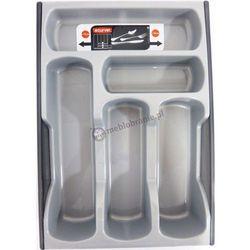 Wkład do szuflady na sztućce CURVER srebrno-grafitowy