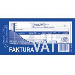 Faktura VAT-wzór pełny dla prowadzących sprzedaż w cenach netto 1/3 A4 oryginał + kopia