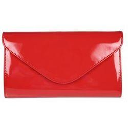 Czerwona, lakierowana kopertówka - Balladine