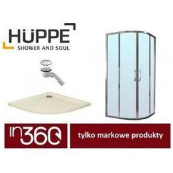 Huppe Ena kabina prysznicowa 90x90 + brodzik Xerano 1/4 koła + syfon (120602069321) in.000K900