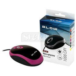 Mysz optyczna BLOW MP-20 USB Różowy - 84-014#
