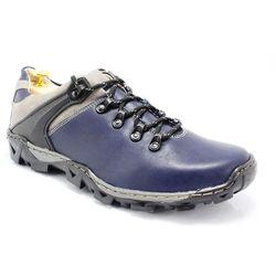 KENT 116 GRANATOWE - Trekkingowe buty męskie 100% skórzane