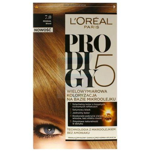 Loreal Paris Prodigy5 Farba do włosów bez amoniaku Migdał Blond nr 7.0
