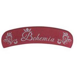 Bohemia Crystal Bohemia Glossy szklany pilnik półokrągły + do każdego zamówienia upominek.