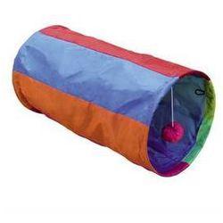 Zabawka dla zwierząt Nobby Kolorowy tunel 25x50cm Purpurowa/Pomarańczowa