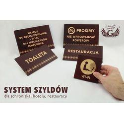 System szyldów - opracowanie graficzne szyldów i tabliczek dla schroniska, hotelu, restauracji