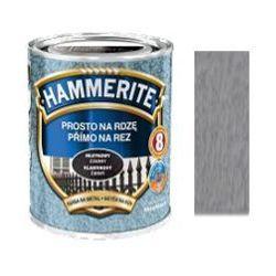 Farba Prosto Na Rdzę - Efekt Młotkowy Srebrno-Szary 2,5L Hammerite