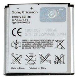 Oryginalna bateria BST-38 - 930mAh - Sony Ericsson C510, C902, C905, K770i, K850i, W580i, W995, Yendo, Xperia X10 mini pro, Opakowanie Bulk