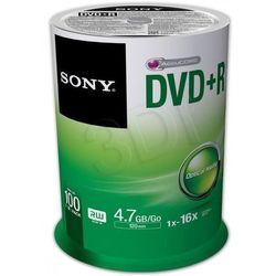 Płyty DVD+R Sony - 4,7GB 16x - 100szt.